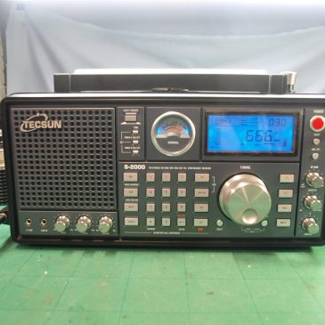 TECSUN S-2000 通信機型受信機 修理&改造